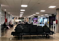 Зал ожидания в аэропорту Сан-Себастьян