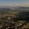 Вид на город с воздушного шара