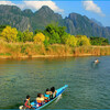 Прогулка по реке Нам Сонг на моторных лодках