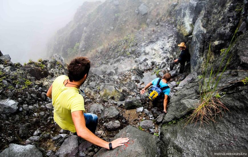 Спуск к кратеру. Вулкан Чичональ.