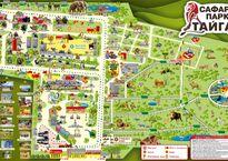 Карта парка «Тайган»