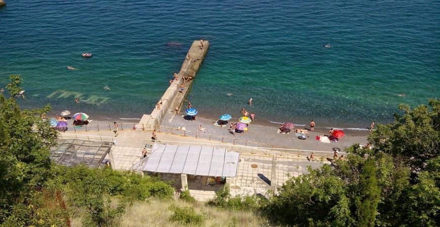 Пляж «Дельфин» в Ялте