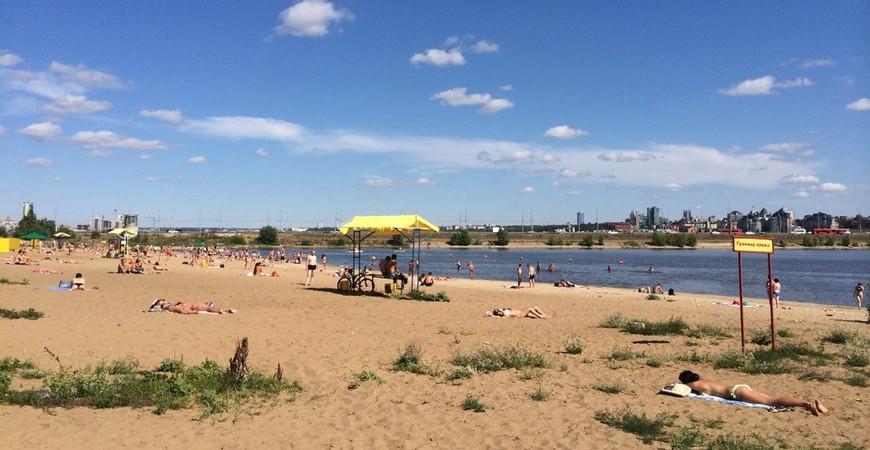 Пляж «Нижнее Заречье» в Казани