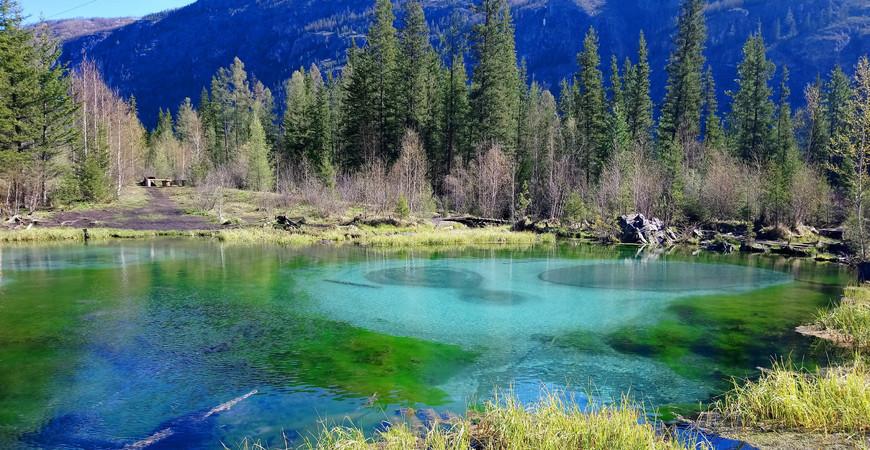 Гейзеровое озеро на Алтае