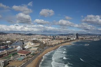 На пляже Барселоны обнаружили большое количество мертвой рыбы