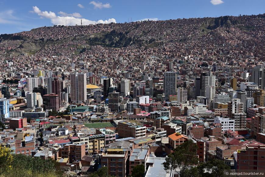 Вид на Ла-Пас со смотровой площадки Killi-Killi