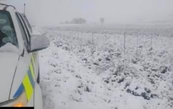 В Южной Африке выпал снег (видео)