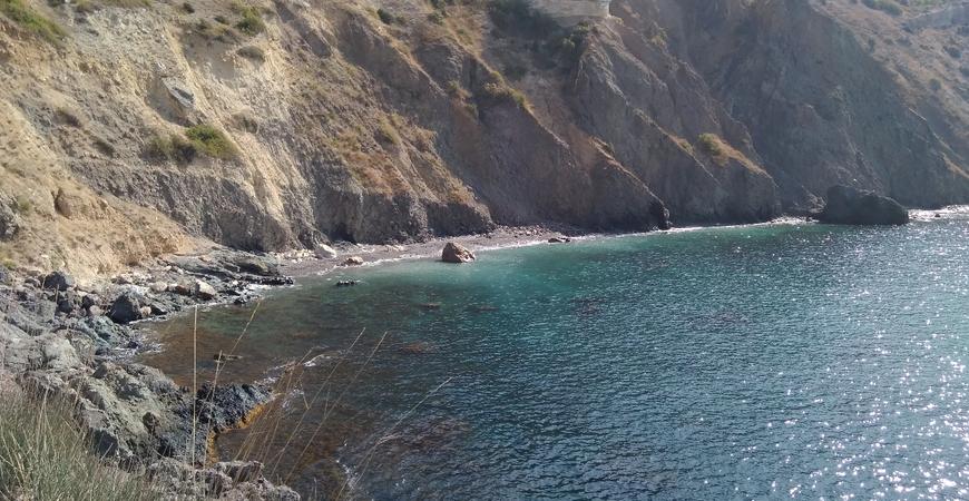 Пляж Каравелла на мысе Фиолент