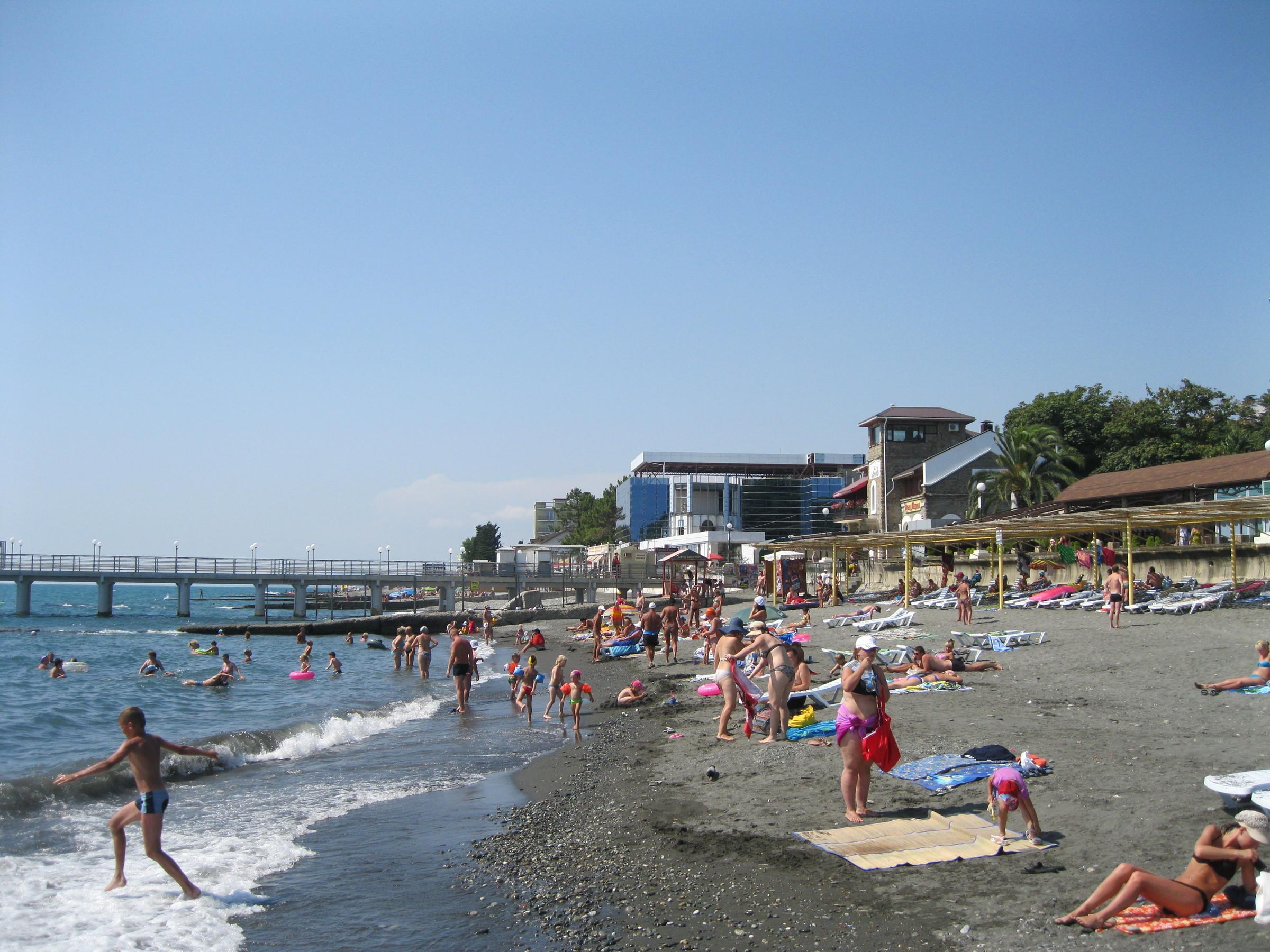 городской пляж адлера фото что