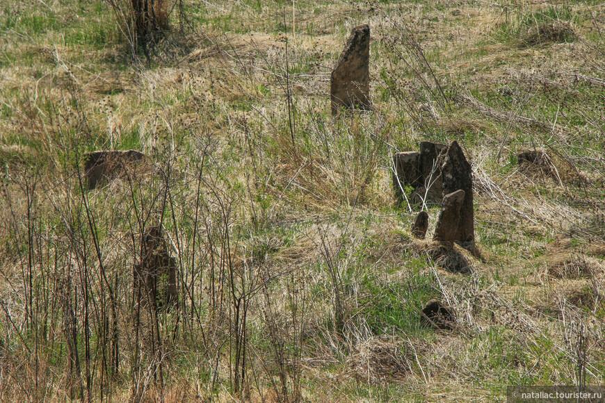 А это заброшенное кладбище. Очень хотелось пройти, походить среди старых наклонившихся плит, словно стражники, выглядывающих из-за травы, но везде была ограда из сетки и калитка закрыта.