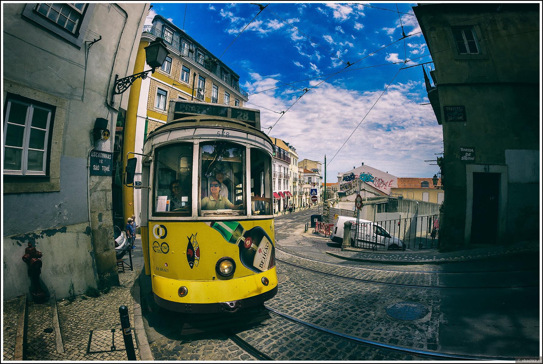 Радость лиссабонского трамвая (с) ronadort, Я и лаг у троп. Португалия! (палиндром)