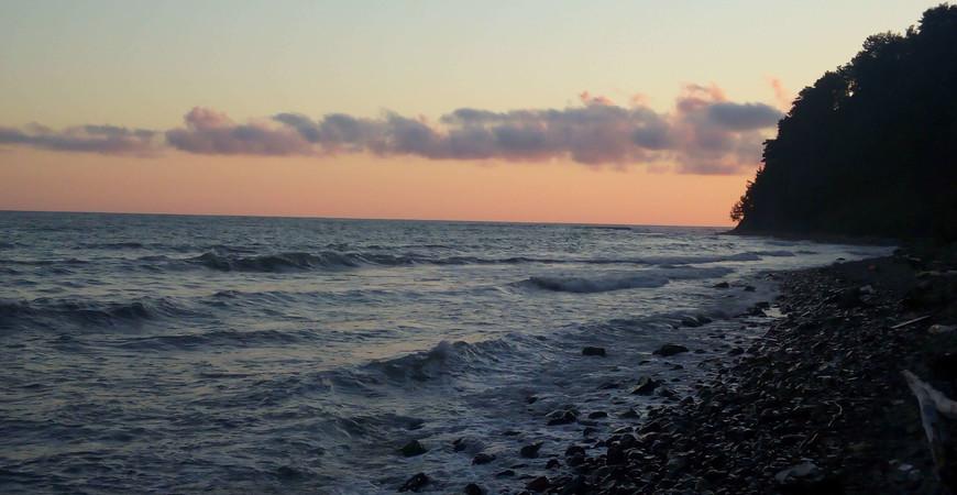 Дикий пляж мыса Кадош в Туапсе