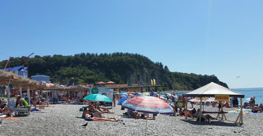 Центральный пляж Ольгинки