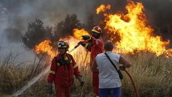 Лесные пожары охватили греческие острова