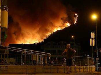 Лесной пожар в Черногории не коснулся российских туристов