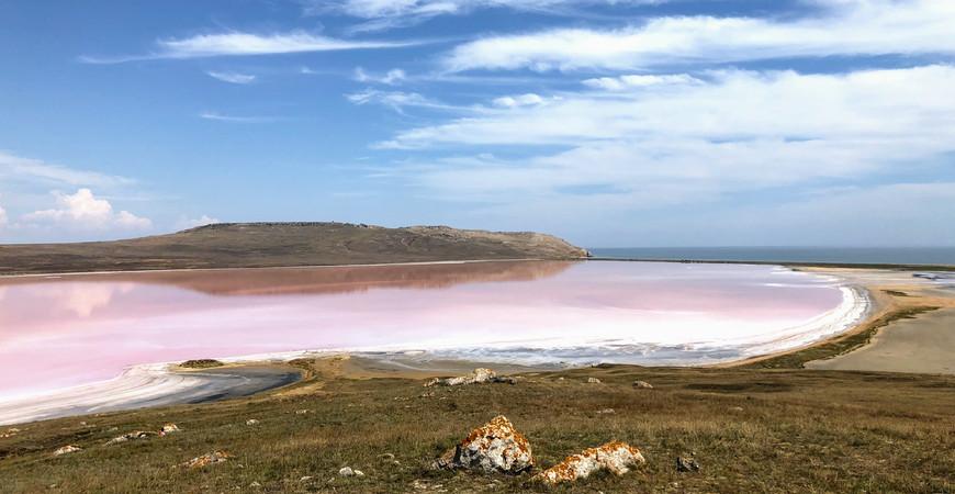 Кояшское озеро (Розовое озеро в Крыму)