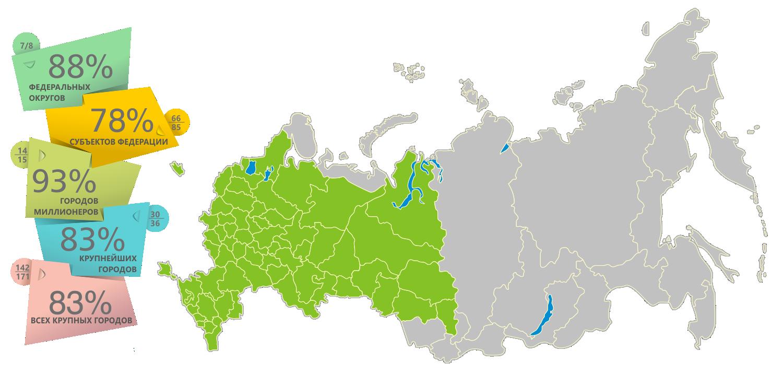 Города России (список и карта)