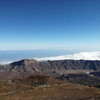 вид на облака с высоты 3,5 тыс метров, с Вулкана Тейде