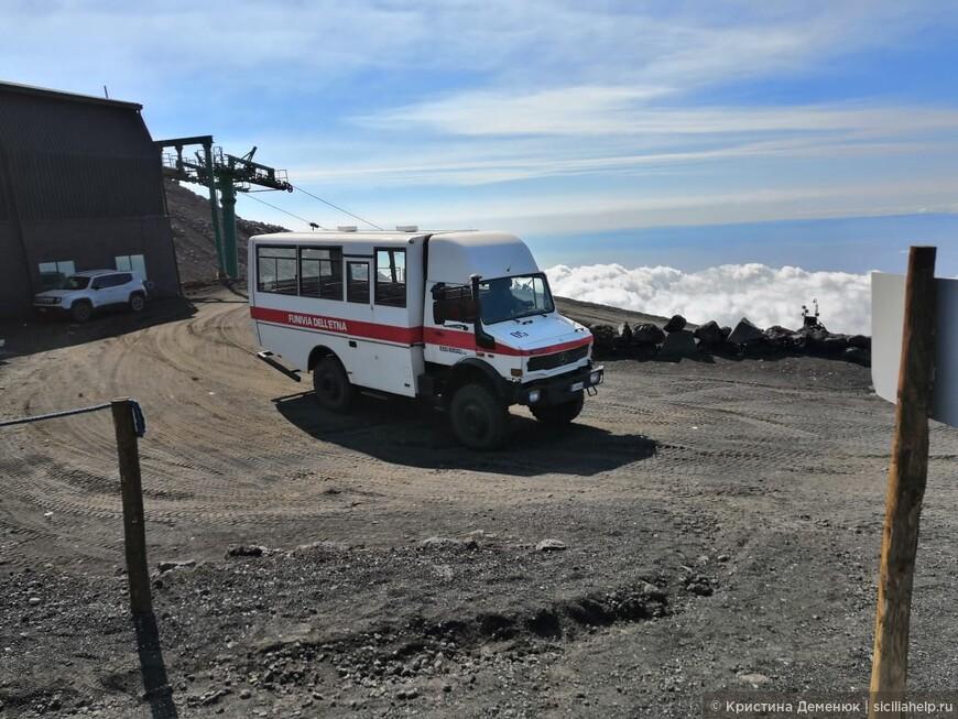 Этна- 2500 м над уровнем моря (джипы)