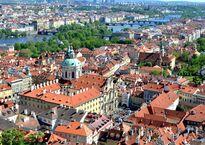 Вид на Прагу со смотровой южной башни собора