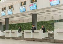 Стойки регистрации в новом терминале аэропорта Симферополя