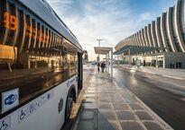 Автобусная остановка нового терминала аэропорта