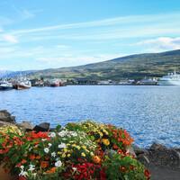 Конечно же в порт Акурейри заходят туристические лайнеры. Много прогулочных корабликов и рыбацких суденышек.