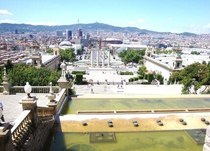 Сергей Архипкин Вид на Барселону со Дворца Каталонии.jpg