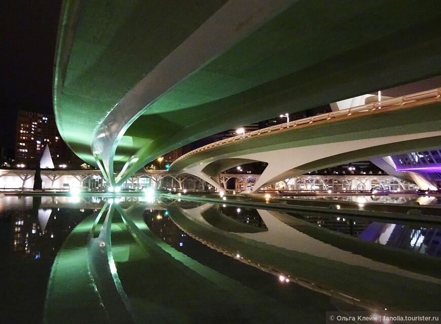 Ночной вид моста Montolivet