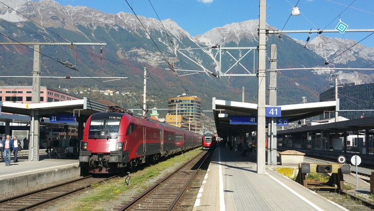Ж/д вокзал Инсбрука