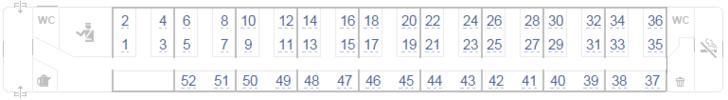 Нумерация мест в вагоне поезда