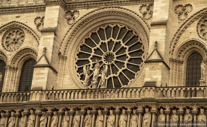 Собор Парижской богоматери. Ангелы вдоль крыши
