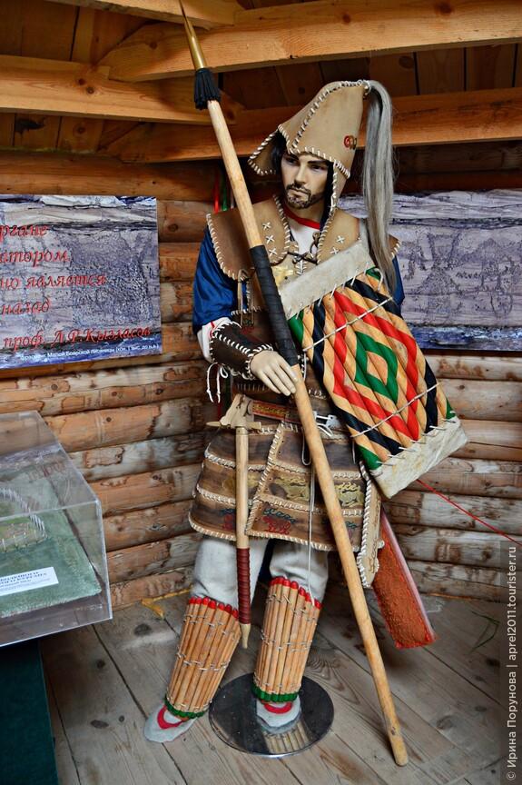 Образец скифского костюма в музее тагарской культуры