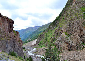 Дорога к«затерянному водопаду». Долина Азау