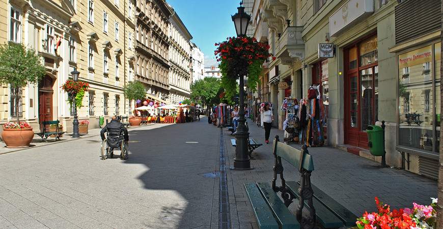 Улица Ваци в Будапеште (Váci utca)