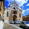 Наконец то нашла удачный ракурс для съемки. Фото моё, как и большинство фотографий. Дуомо ди Верона ил кафедральный собор. Здесь и Данте Алигьери выступал!