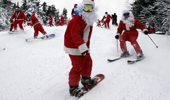 На курорте «Архыз» в Новый год пройдёт массовый спуск на лыжах Дедов Морозов и Снегурочек