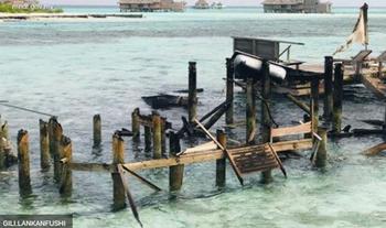 На Мальдивах сгорел популярный отель