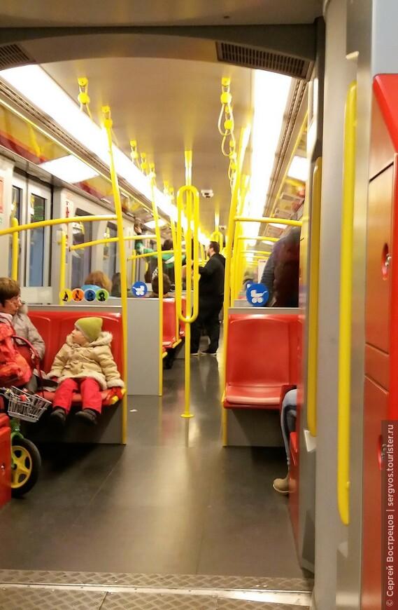 В вагоне венского метро