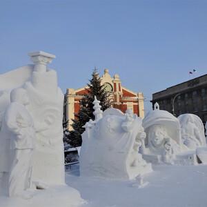 XIX Сибирский фестиваль снежной скульптуры