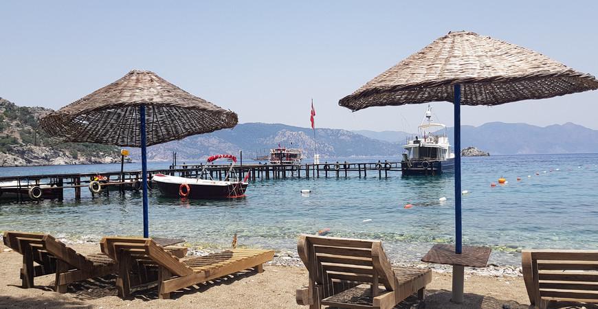 Пляж Амос в Мармарисе, Турция