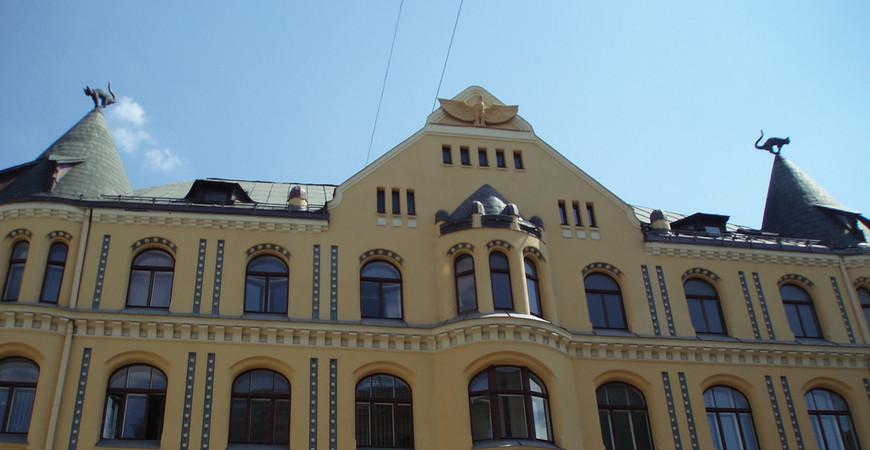 Дом с чёрными котами в Риге (Kaķu nams)