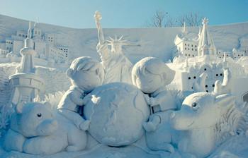 Крупнейший в мире Фестиваль снега пройдёт в Японии