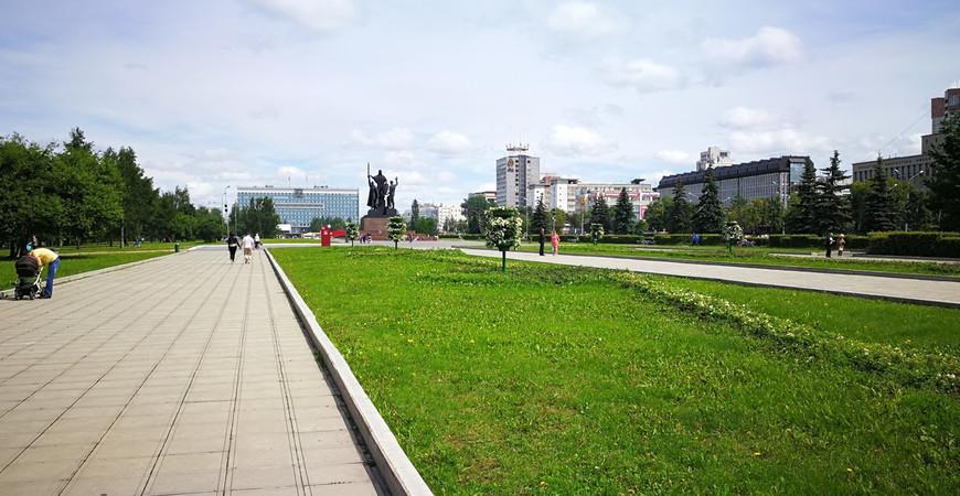 Городская эспланада в Перми