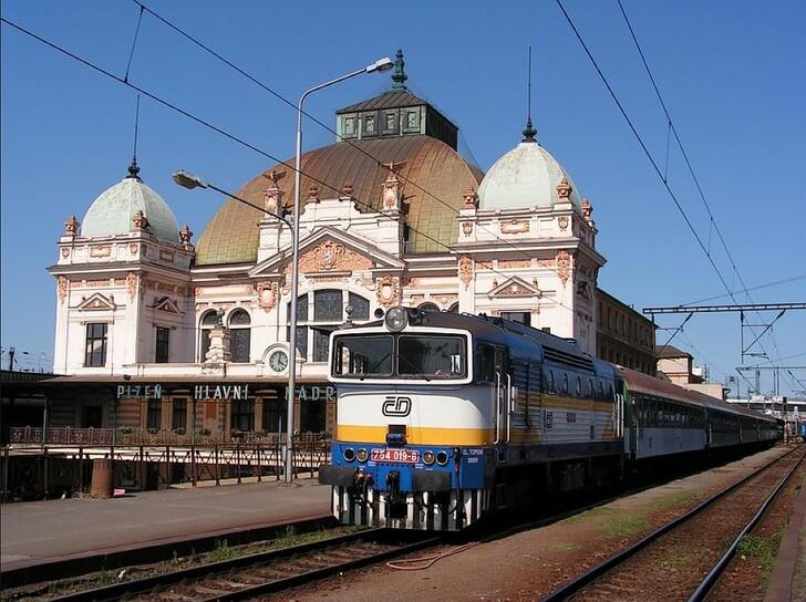 Главный вокзал Пльзеня