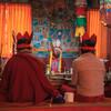 Пуджа (служение) в буддистском монастыре