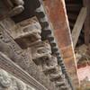 Резная группа украшений храма