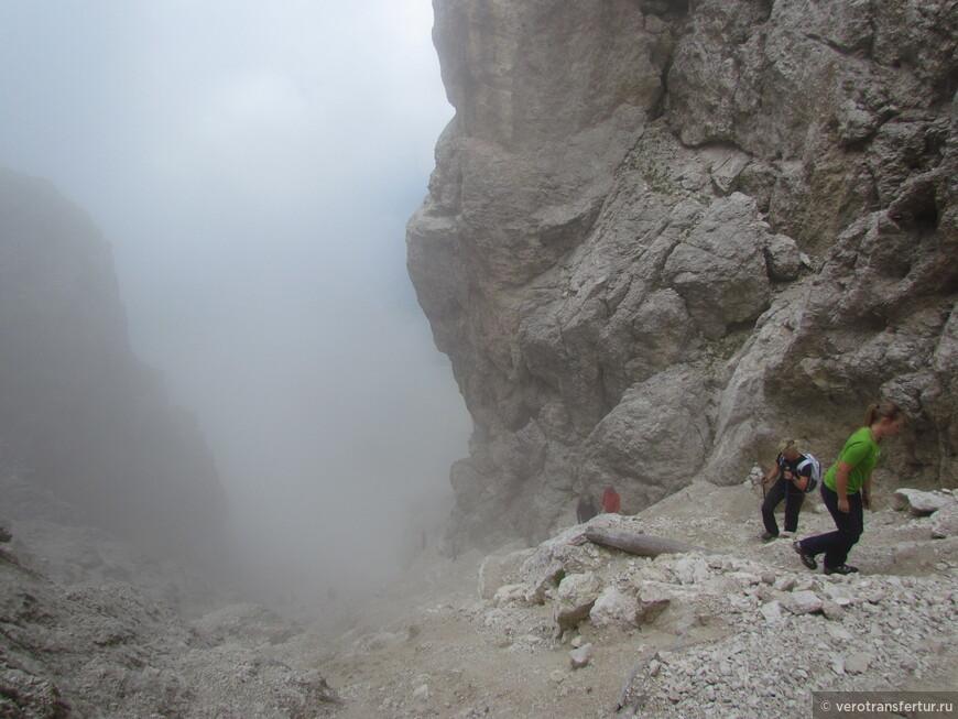 Здесь очень хорошо видно как на протяжение нескольких минут , опять появился туман .