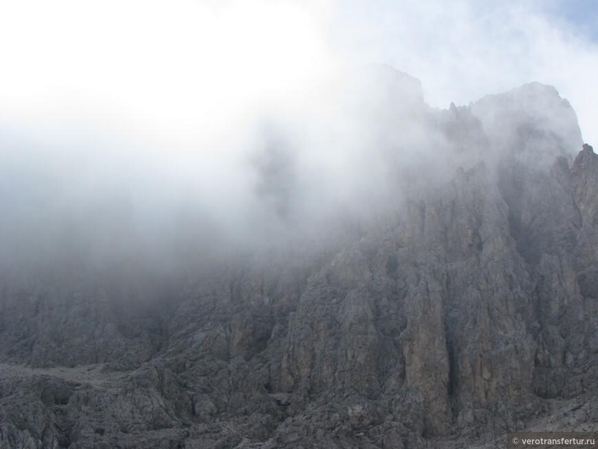 Опять появился туман сзади нас.
