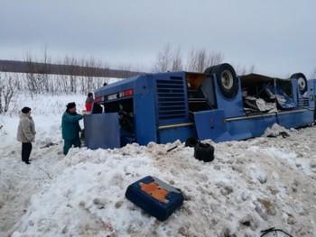 Автобус с детьми перевернулся под Калугой, есть погибшие